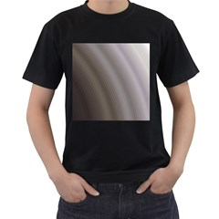 Fractal Background With Grey Ripples Men s T-Shirt (Black) (Two Sided)