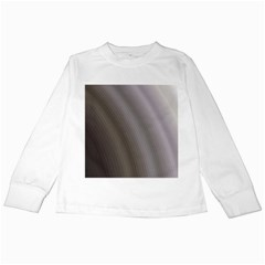 Fractal Background With Grey Ripples Kids Long Sleeve T-Shirts