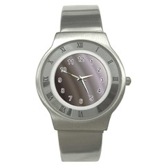 Fractal Background With Grey Ripples Stainless Steel Watch