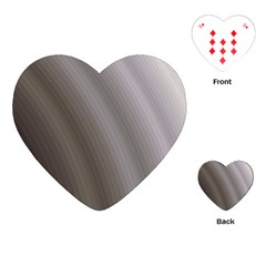 Fractal Background With Grey Ripples Playing Cards (heart)