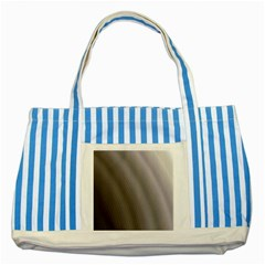 Fractal Background With Grey Ripples Striped Blue Tote Bag
