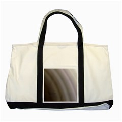 Fractal Background With Grey Ripples Two Tone Tote Bag