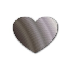 Fractal Background With Grey Ripples Rubber Coaster (heart)