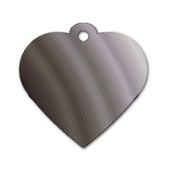 Fractal Background With Grey Ripples Dog Tag Heart (one Side)