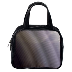 Fractal Background With Grey Ripples Classic Handbags (one Side)