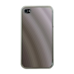 Fractal Background With Grey Ripples Apple iPhone 4 Case (Clear)