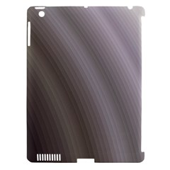 Fractal Background With Grey Ripples Apple iPad 3/4 Hardshell Case (Compatible with Smart Cover)