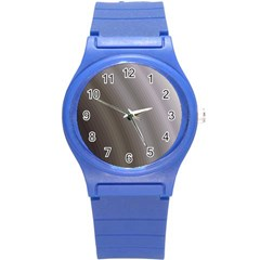 Fractal Background With Grey Ripples Round Plastic Sport Watch (S)