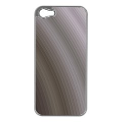 Fractal Background With Grey Ripples Apple iPhone 5 Case (Silver)