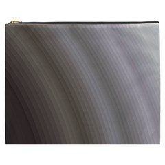 Fractal Background With Grey Ripples Cosmetic Bag (XXXL)
