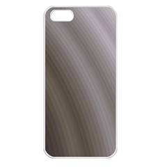 Fractal Background With Grey Ripples Apple iPhone 5 Seamless Case (White)