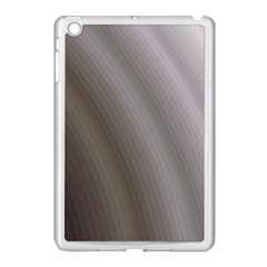 Fractal Background With Grey Ripples Apple iPad Mini Case (White)