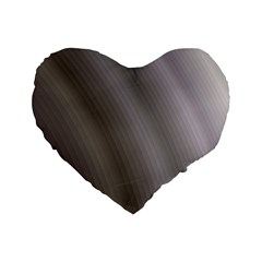 Fractal Background With Grey Ripples Standard 16  Premium Heart Shape Cushions