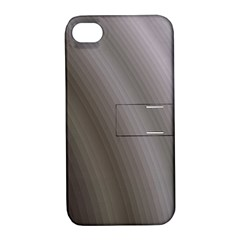 Fractal Background With Grey Ripples Apple iPhone 4/4S Hardshell Case with Stand