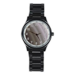 Fractal Background With Grey Ripples Stainless Steel Round Watch