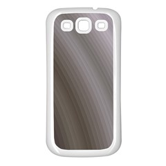 Fractal Background With Grey Ripples Samsung Galaxy S3 Back Case (White)