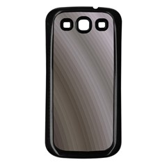 Fractal Background With Grey Ripples Samsung Galaxy S3 Back Case (Black)