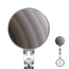 Fractal Background With Grey Ripples Stainless Steel Nurses Watch