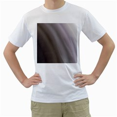 Fractal Background With Grey Ripples Men s T Shirt (white)