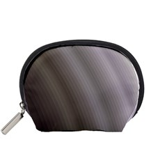 Fractal Background With Grey Ripples Accessory Pouches (Small)