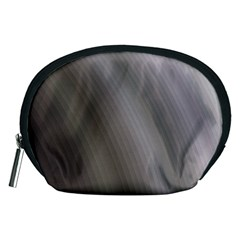 Fractal Background With Grey Ripples Accessory Pouches (Medium)