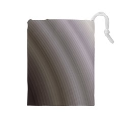 Fractal Background With Grey Ripples Drawstring Pouches (large)