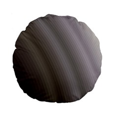Fractal Background With Grey Ripples Standard 15  Premium Flano Round Cushions