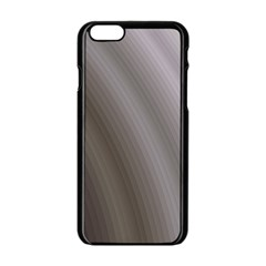 Fractal Background With Grey Ripples Apple iPhone 6/6S Black Enamel Case