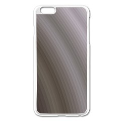 Fractal Background With Grey Ripples Apple iPhone 6 Plus/6S Plus Enamel White Case