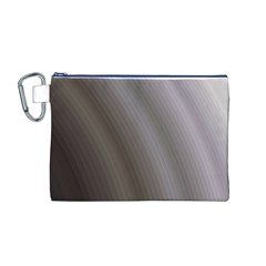 Fractal Background With Grey Ripples Canvas Cosmetic Bag (m)