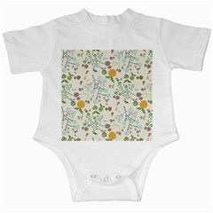 Floral Kraft Seamless Pattern Infant Creepers