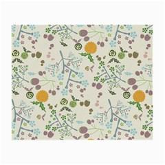 Floral Kraft Seamless Pattern Small Glasses Cloth