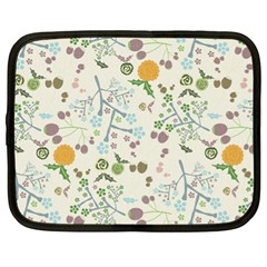 Floral Kraft Seamless Pattern Netbook Case (xl)