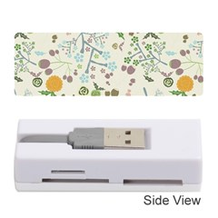 Floral Kraft Seamless Pattern Memory Card Reader (Stick)