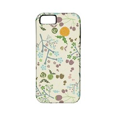 Floral Kraft Seamless Pattern Apple iPhone 5 Classic Hardshell Case (PC+Silicone)