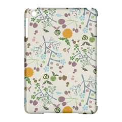 Floral Kraft Seamless Pattern Apple iPad Mini Hardshell Case (Compatible with Smart Cover)