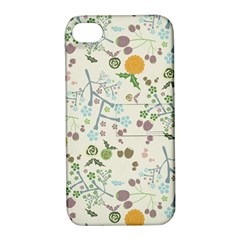 Floral Kraft Seamless Pattern Apple iPhone 4/4S Hardshell Case with Stand