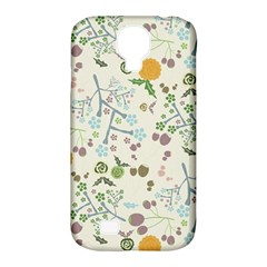 Floral Kraft Seamless Pattern Samsung Galaxy S4 Classic Hardshell Case (PC+Silicone)
