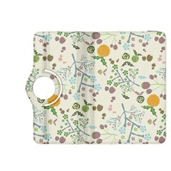 Floral Kraft Seamless Pattern Kindle Fire HDX 8.9  Flip 360 Case