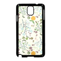 Floral Kraft Seamless Pattern Samsung Galaxy Note 3 Neo Hardshell Case (Black)