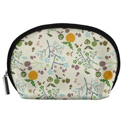 Floral Kraft Seamless Pattern Accessory Pouches (Large)