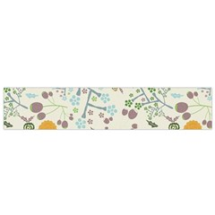 Floral Kraft Seamless Pattern Flano Scarf (small)