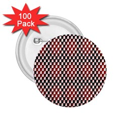 Squares Red Background 2 25  Buttons (100 Pack)