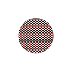 Squares Red Background Golf Ball Marker (4 Pack)
