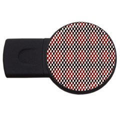 Squares Red Background USB Flash Drive Round (2 GB)