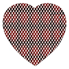 Squares Red Background Jigsaw Puzzle (Heart)