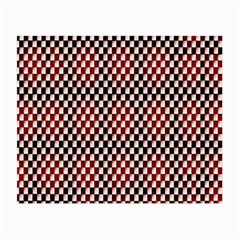 Squares Red Background Small Glasses Cloth