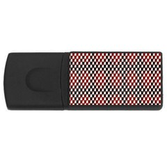Squares Red Background Usb Flash Drive Rectangular (4 Gb)