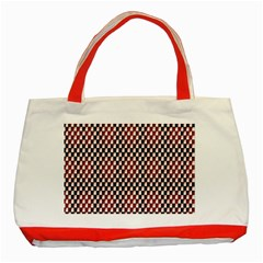 Squares Red Background Classic Tote Bag (red)