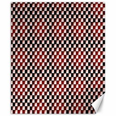 Squares Red Background Canvas 8  X 10